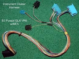 vw b3 vr6 glx w mfa passat instrument gauge cluster wiring vw b3 vr6 glx w mfa passat instrument gauge cluster wiring harness 1993 1994