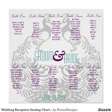 Wedding Reception Seating Chart Peacock Themed Zazzle