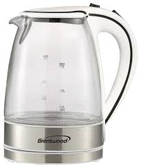bwood tempered glass electric kettle 1 7 liter white