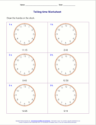 Clock Time Worksheets Grade Worksheets for all | Download and ...