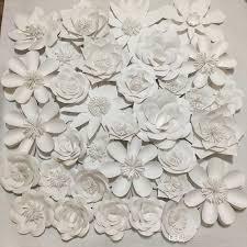 Cardstock Paper Flower Set Giant Cardstock Paper Flowers Full Wall Wedding Backdrops