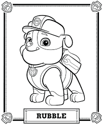 Paw Patrol Coloring Pages Chase Characters Paw Patrol Coloring