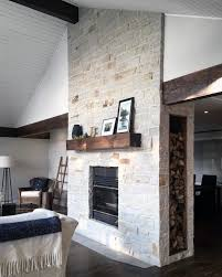 luxury natural stone fireplace design ideas