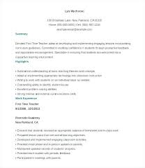 Sample Substitute Teacher Resume Adjunct Faculty Resume Faculty ...