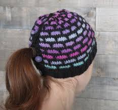 Ponytail Hat Knitting Pattern Unique Ombre Bricks Ponytail Hat Knitting Patterns And Crochet Patterns