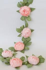 Paper Flower Centerpieces At Wedding Bridal Garland Wedding Garland Paper Flower Garland Peonies
