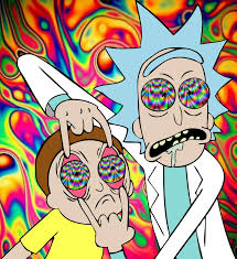 Psychedelic Rick and Morty design ...