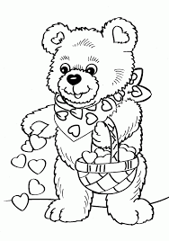 Small Picture Teddy Bear Colouring Coloring Home