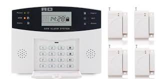 wireless wired lcd gsm home security diy burglar house alarm systems with pir sensor door sensor