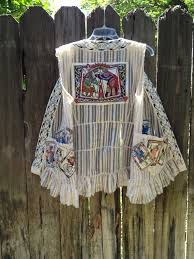 """Vest using Dover clip art by Myrna Elliott. """"I made silk screens of the  playing cards in the Dover Wild Cards Stain… 