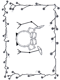 Drumstel Kleurplaten Muziek