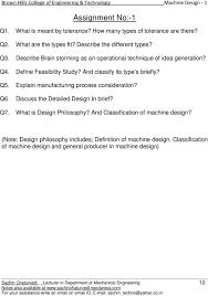 Machine Design 1 Notes Brown Hills College Of Engineering Technology Machine