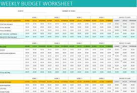 Weekly Monthly Budget Template Free Personal Weekly Budget Template