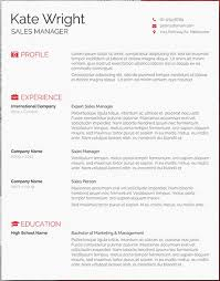 Free Resume Templates Simple 60 Free resume Word templates to impress your employer Responsive