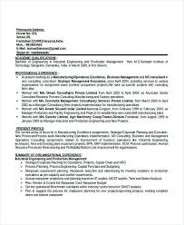 Production Manager Resume Template Doc Professional