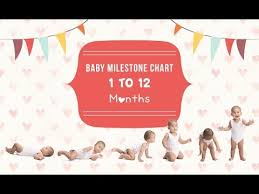 Infant Milestone Chart By Month Baby Milestone Chart 1 To 12 Months Youtube