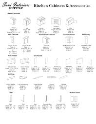 Dimensions Of Kitchen Cabinets Kitchen Cabinet Sizes Canada
