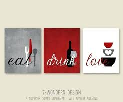 red kitchen wall art kitchen wall art print set eat drink love rustic red grey black  on eat drink love canvas wall art with red kitchen wall art red kitchen wall art red wall decor red wall