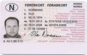 Novelty Norwegian Best License Driver's Documents -