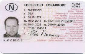 License Best Norwegian Novelty Driver's - Documents