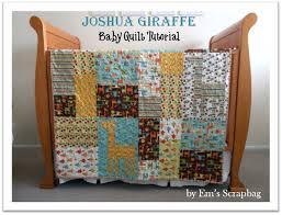 Riley Blake Designs -- Cutting Corners: Recent Blog Articles ... & Riley Blake Designs -- Cutting Corners: Joshua Giraffe Baby Quilt Tutorial  by Emily from Em's Scrapbag Adamdwight.com