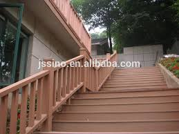 no painting waterproof wooden plastic composite handrails for outdoor porch stair steps exterior