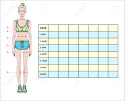 Printable Body Measurement Chart Weight Loss Printable Body Measurements For Weight Loss Chart Www