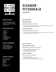 Modern Creative Resume Template Black Modern Creative Resume Templates By Canva
