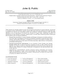 Sample Federal Government Resumes Traditional Resume Sample Private ...
