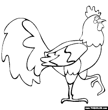 Small Picture Year of the Rooster Coloring Page