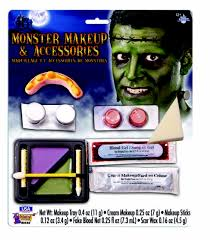 ugly monster frankenstein makeup accessories kit teeth bolts fake blood scar wax