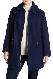 Nordstrom Rack Plus Size Coats MICHAEL Michael Kors Fill Zip Wool Blend Coat Plus Size 83