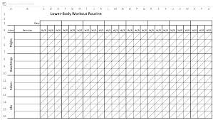 Workout Log Sheets Simple Workout Spreadsheet Uttamdirect
