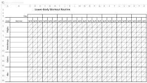 Workout Log Sheets Simple Workout Spreadsheet Uttamdirect