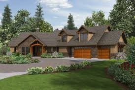 Craftsman Ranch House Plans With Walkout Basement Residential Custom Ea E F  C Ff F: Full ...
