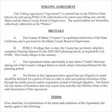 Tolling Agreement Template Tolling Agreement 100 Free PDF Doc Download 2