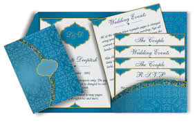 Email Invitations Classy Arabic Email Wedding Invitation In Blue Gold