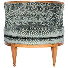 Slipper Chair Grosfeld House 1940s Glamorous Curved Slipper Chair For Sale At