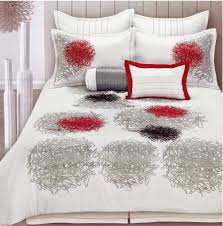 red and white bedding. Exellent Red FAB 8Piece White Black And Red Bedding With Grey Accents For And O
