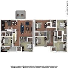 4 Bedroom Apartments Near Ucf Contemporary The Retreat At Orlando Apartments  In Orlando Florida Design