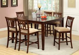 furniture of america cookes piece counter height dining set
