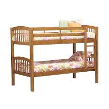 shop linon home decor pecan twin over twin bunk bed at lowes com