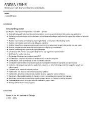 sample computer programmer resume computer programmer resume sample velvet jobs