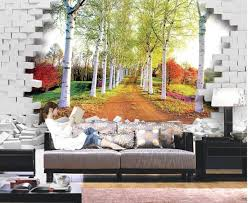 Small Picture Aliexpresscom Buy Landscape wallpaper murals forest brick