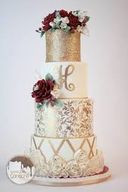4 Tier Wedding Cake Designs The Chic Technique Red White And Gold 4 Tiered Wedding