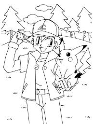 Coloriage Pikachu Imprimer Dessin Pikachu S With Ash Coloriage