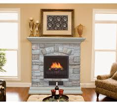 stone home depot electric fireplaces with beige accent