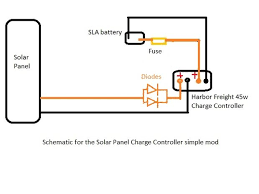 make the harbor freight 45w solar panel charge controller useful Solar Panel Diode Diagram caveats with the blocking diode solar panel diode connection diagram