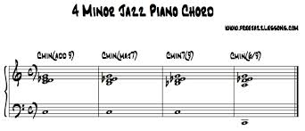 Free Jazz Piano Chord Charts 4 Different Way To Play Minor Jazz Piano Chords