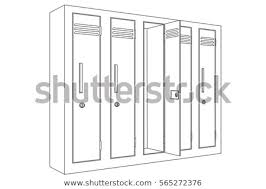 locker with open door outline icon ilration isolated on white background raster